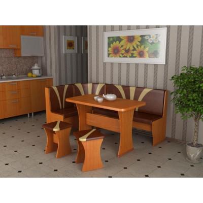Кухонный уголок Титул-2 (Ольха горская, К/з: Брауни/Латте (тюльпан))