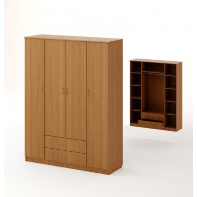Шкаф распашной 4хстворчатый с 2 ящиками
